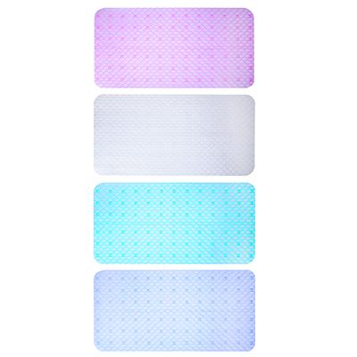 """462-439 Коврик для ванны противоскользящий, прозрачный, ПВХ, 68x36см, 4 цвета, VETTA """"Тренд"""""""