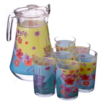 "878-014 VETTA Набор 7 пр. (стаканы 6шт 220мл, кувшин 1,5л), стекло ""Сакура"""