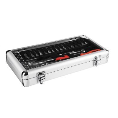 736-036 ЕРМАК Набор профессионального инструмента, 34 предм., алюминиевый кейс 1/4DR (головки 6гран)