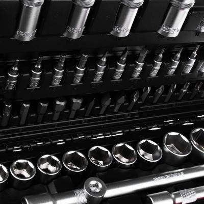 """736-051 ЕРМАК Набор профессионального инструмента, 108 предм., 1/4""""+1/2"""", (головки 6гран)"""