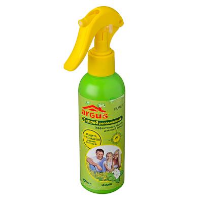 159-081 ARGUS Family Лосьон-спрей от комаров с курком, 18% ДЭТА, 200мл, арт.А-14