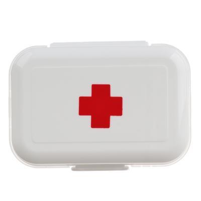 406-003 Аптечка-бокс дорожная 8 отделений, пластик, 10х6х3,5 см