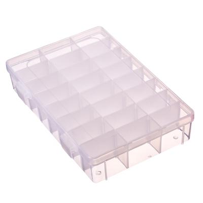 406-011 Контейнер для мелочей 24 отделения, пластик, 19х13х4 см, прозрачный