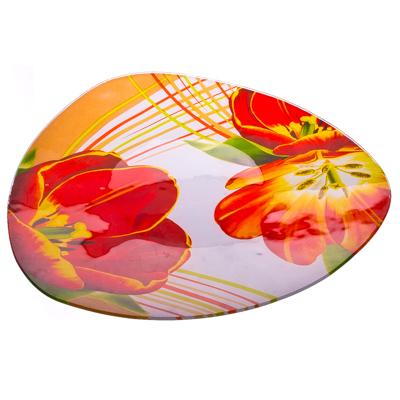 877-044 VETTA Моника Блюдо треугольное стекло, 30см, S330012