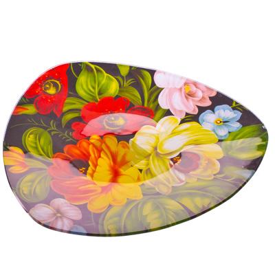 877-049 VETTA Жостово Блюдо треугольное стекло, 25,4см, S330010