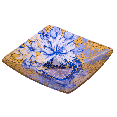 877-100 VETTA Наоми Салатник квадратный стекло, 15,2см, S312006N