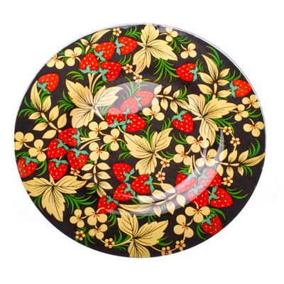 830-047 VETTA Хохломские узоры Тарелка десертная стекло 200 мм S3008-GC001