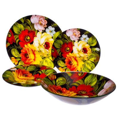 830-051 VETTA Жостово Набор столовой посуды 19 пр. стекло S3000/19-GC001, Дизайн GC