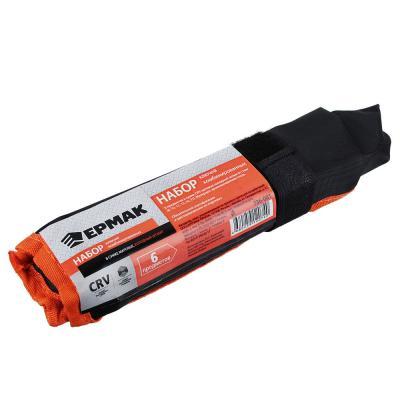 736-081 ЕРМАК Набор ключей комбинированных 6 предм., 8-17мм, CRV матовые холодный штамп, в сумке