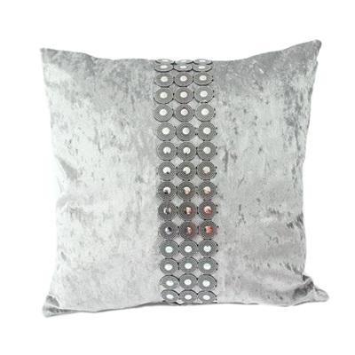"482-458 Наволочка на подушку, бархат, пластик, 43х43см, 4 цвета, ""Афины"""