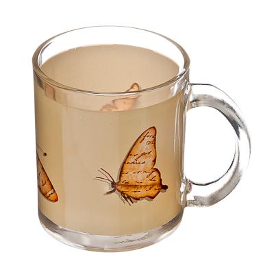 830-092 VETTA Полет бабочки Кружка стекло 270 мл S2348