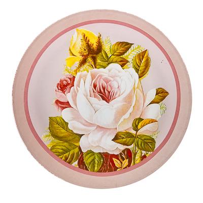 830-108 VETTA Нежные розы Тарелка подстановочная стекло 254 мм S3010