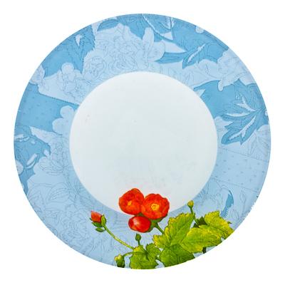 830-117 VETTA Садовые цветы Тарелка десертная стекло 200 мм S3008