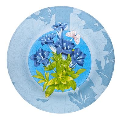 830-118 VETTA Садовые цветы Тарелка подстановочная стекло 254 мм S3010