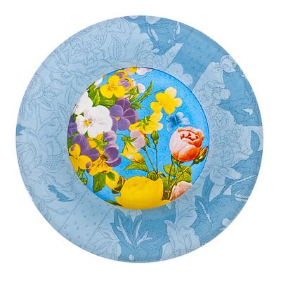 830-119 VETTA Садовые цветы Тарелка суповая стекло 200 мм S3030