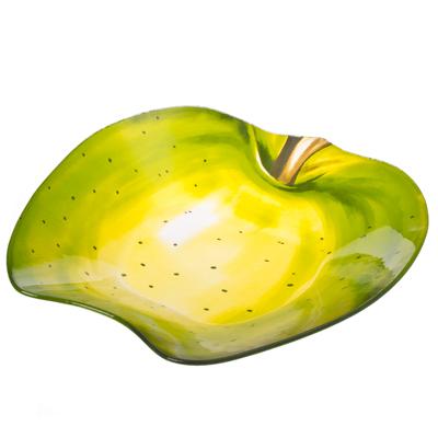 """877-129 VETTA Салатник стекло, 25,4см, """"Зеленое яблоко"""", H165"""
