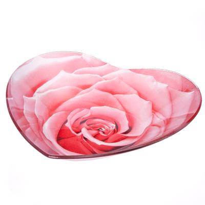 "877-143 VETTA Салатник стекло, 20,3см, ""Сердце Нежная роза"", L230"