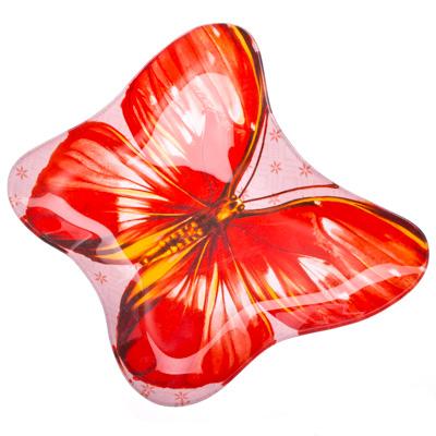 "877-153 VETTA Блюдо стекло, 20,3см, ""Бабочка"", L218"