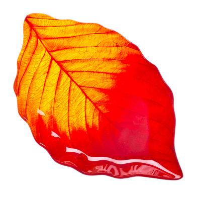 """877-188 VETTA Блюдо стекло, 25,4см, """"Осенний лист"""", L210"""