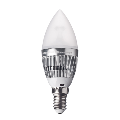 935-029 FORZA Лампа светодиодная цоколь E14 LED, 4W, эквив. 40Ватт, 220V, 6500к, 30000h, d4см