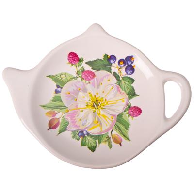 824-300 Ягодная фантазия Подставка для чайных пакетиков, керамика