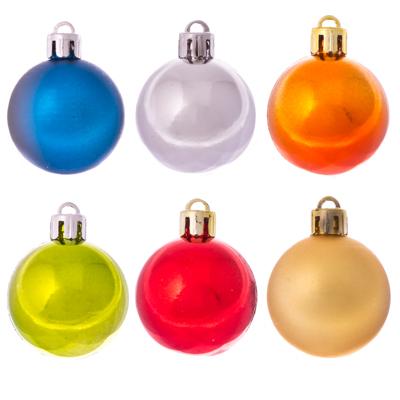 372-254 СНОУ БУМ Набор шаров 40мм 12шт, пластик, 6 цветов, в пакете, N2/4012