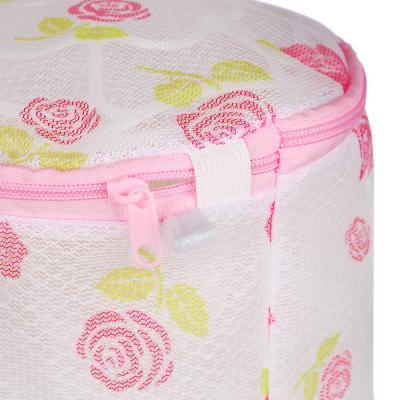 452-013 Мешок для стирки нижнего белья, пластик, полиэстер, 15х15х16см, 4 дизайна