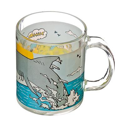 "879-024 VETTA Кружка стеклянная, 350мл, ""Кот и акула"""