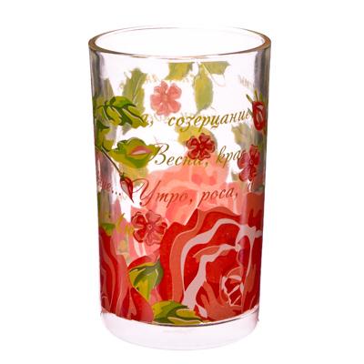 "878-032 VETTA Набор стаканов 6шт, стекло, 250мл ""Розы"""