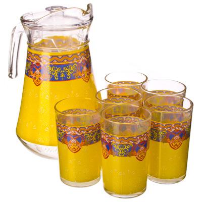 """878-033 VETTA Набор 7 пр. (стаканы 6шт 220мл, кувшин 1,5л), стекло, """"Винтажный"""""""