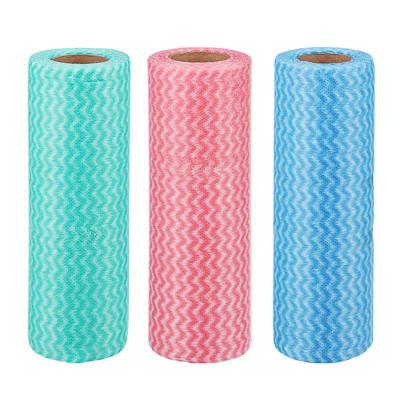 448-156 VETTA Набор салфеток, нетканый материал, 25шт в рулоне, 20x40см, 3 цвета