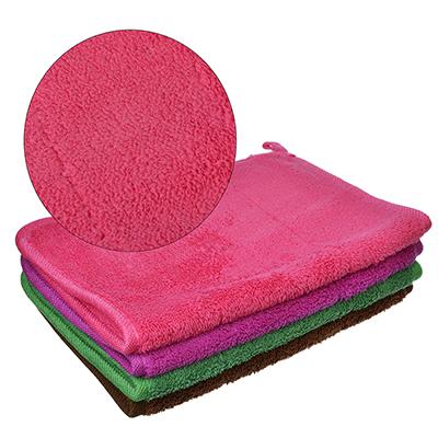 448-168 VETTA Салфетка из микрофибры двухслойная, для мебели 25х35см, 300 г/кв.м. 4 цвета