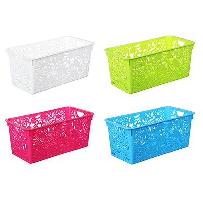 406-032 Корзина-подставка, пластик, 29,5х15х12 см, 4 цвета