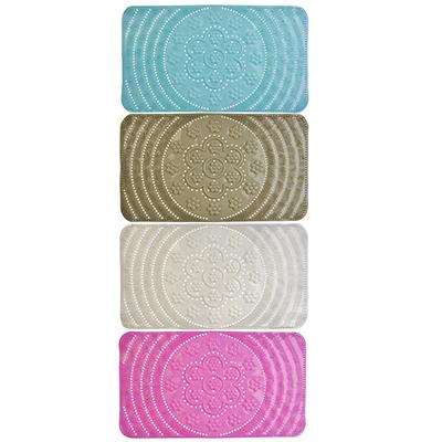 """403-022 Коврик для ванны противоскользящий, ПВХ, 64х35см, 4 цвета, VETTA """"Цветок"""""""
