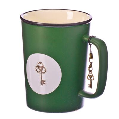 """806-756 Кружка сувенирная с брелоком, 350мл, фарфор, """"Талисман"""", 4 цвета, подар.уп."""