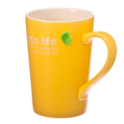 """806-758 Кружка сувенирная, 400мл, фарфор, """"Eco Life"""", 4 цвета, подар.уп."""