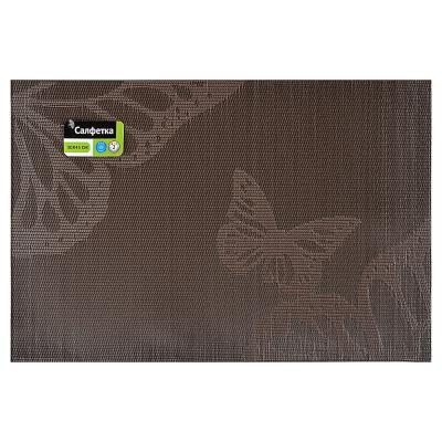 """890-203 Салфетка сервировочная ПВХ, 30x45см, """"Полет бабочки"""", 2 цвета"""