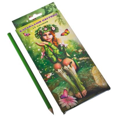 """526-143 Набор цветных карандашей """"Прекрасная Альва"""", 12 цветов"""