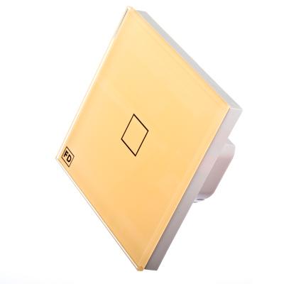 904-064 FDelectonics Выключатель сенсорный одинарный бежевый, стекло, пластик, KG-020VI