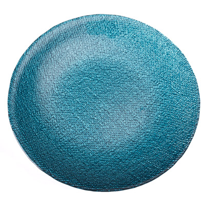 877-229 ARDA Cotton Тарелка десертная синяя стекло 205мм
