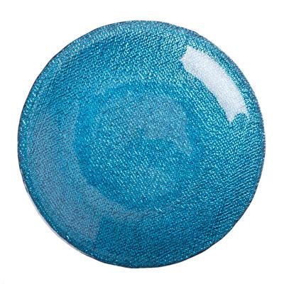 877-230 ARDA Cotton Тарелка десертная синяя стекло 165мм