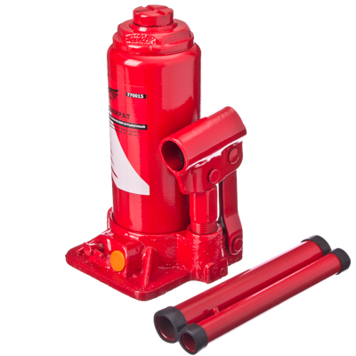 770-015 FALCO Домкрат гидравлический бутылочный 6 т, высота подъема 197-382мм