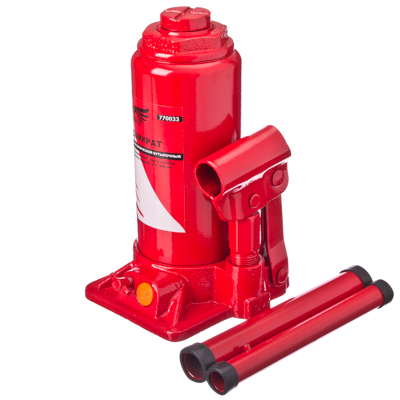 770-033 FALCO Домкрат гидравлический бутылочный 8 т, высота подъема 205-390мм