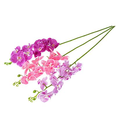 """501-246 Цветок искусственный """"В виде Орхидеи"""" 90-100см, пластик, полиэстер, 3 цвета"""