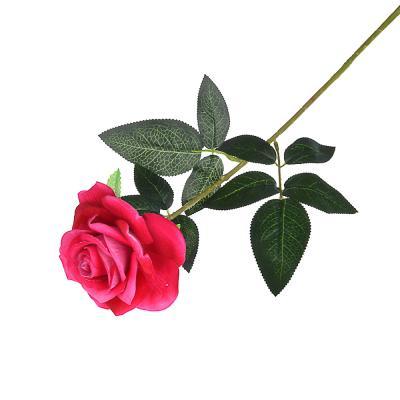 """501-249 Цветок искусственный """"В виде Розы"""" 67см, пластик, полиэстер, 4 цвета"""