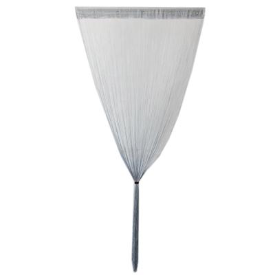491-294 Занавеска нитяная, полиэстер, 1x2м, светло-серый, арт.002
