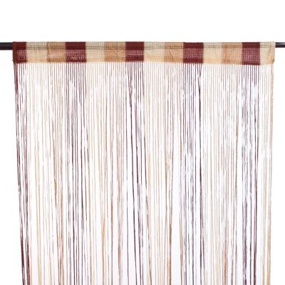 491-297 Занавеска нитяная, полиэстер, 1x2м, широкая, 3-х цвет., золотой, кофейный, кремовый