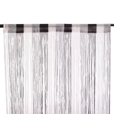 491-298 Занавеска нитяная, полиэстер, 1x2м, широкая, 3-х цвет., черный, серый, белый