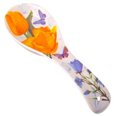 """887-027 FARFALLE Ложка подстановочная, керамика, 22см, """"Желтые тюльпаны"""""""