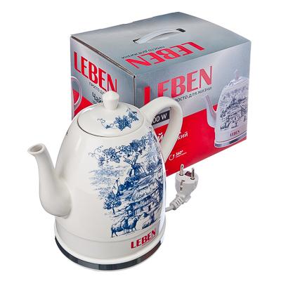 """Чайник керамический 1,5л, 1200Вт, скрытый нагр.элемент, """"Blue"""""""